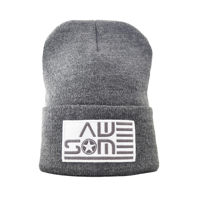 AWESOME Classic Dark Gray Beanie - Awesome Nation 7bddc57b0